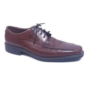 Ecco Men's Brown Leather Dress Shoes Size 45